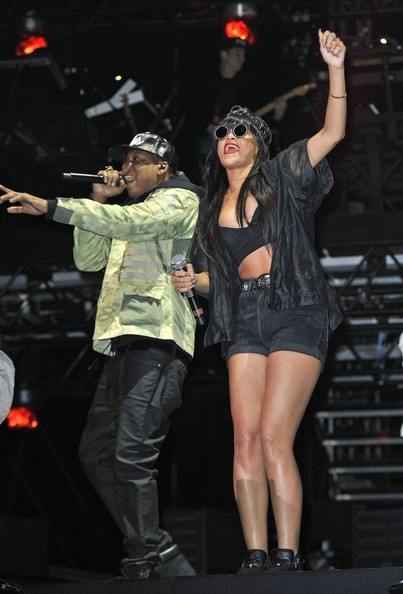 Jay-Z and Rihanna at Hackney Weekend