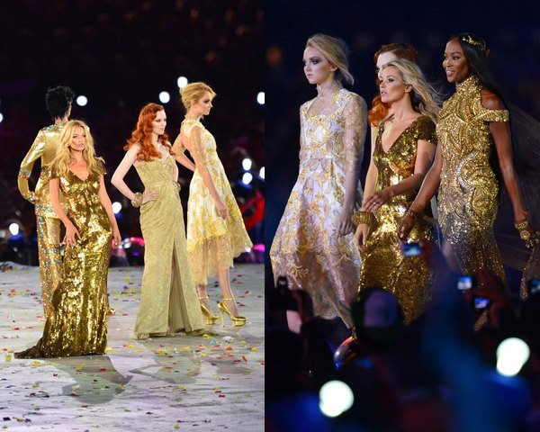 Supermodels in gold