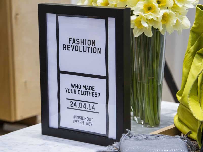Fashion Revolution day at Push PR's client Eileen Fisher's Covent Garden flagship store.