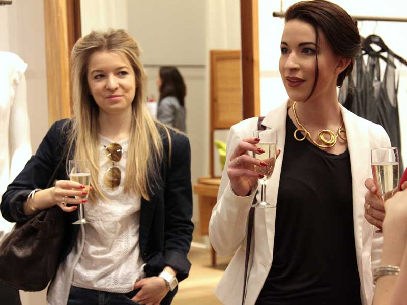 Guests attend the Fashion Revolution Day event at Eileen Fisher's Covent Garden flagship store.
