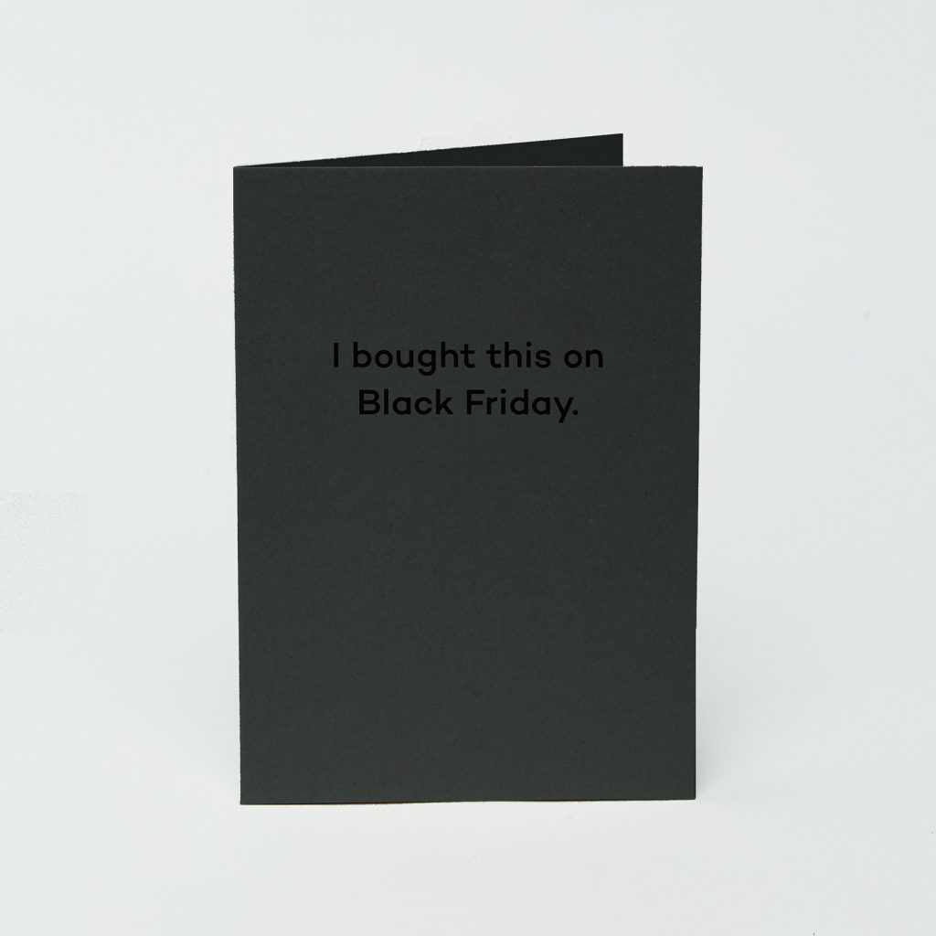 Black Friday Mean Mail greeting card