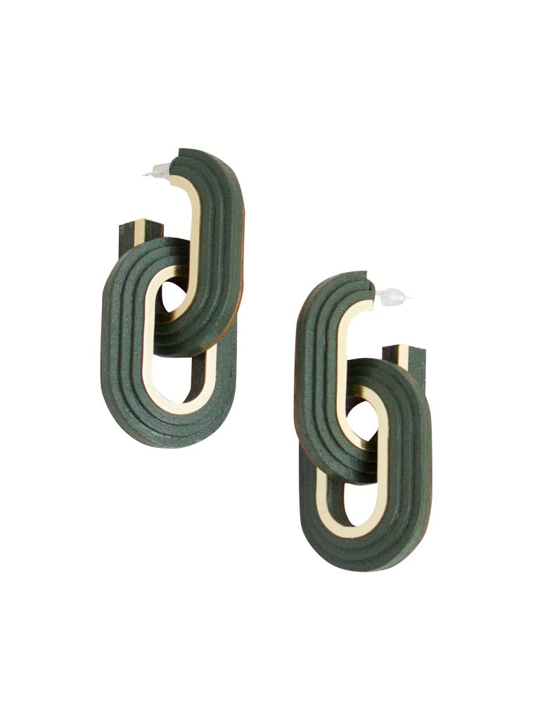 Wolf & Moon -Mirage Earrings Green - www.wolfandmoon.com