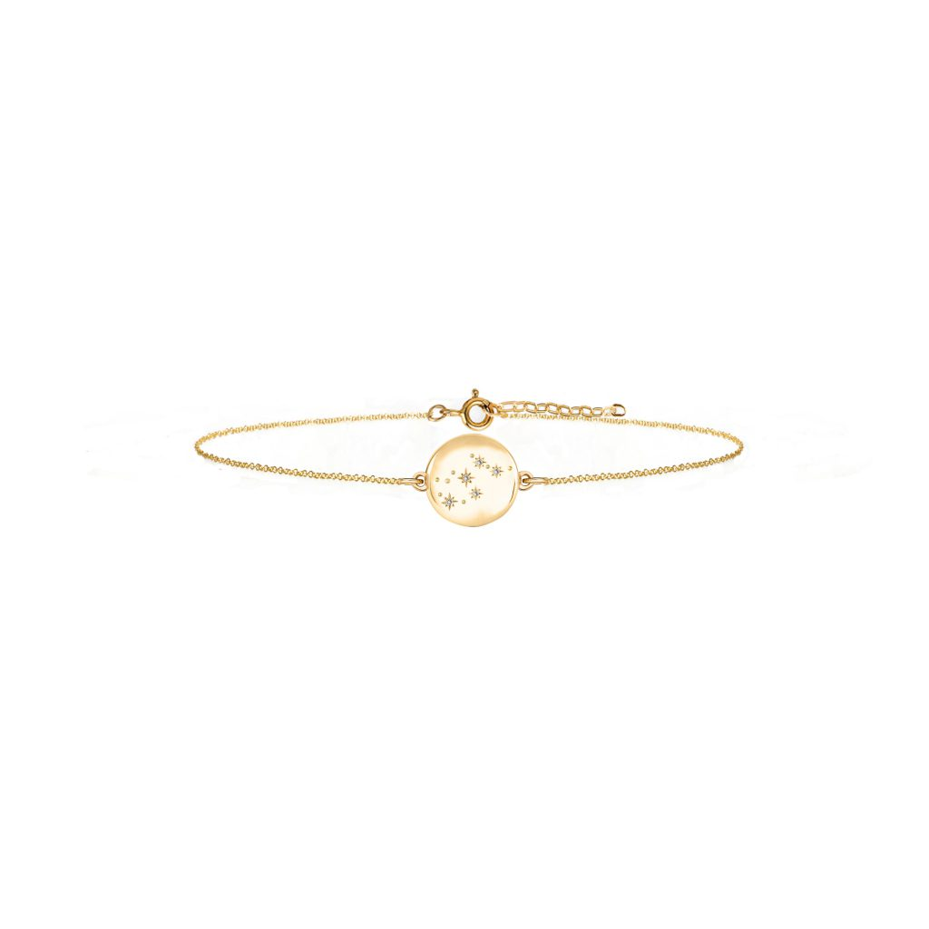 Zodiac Constellation Bracelet - 9ct solid gold and diamonds